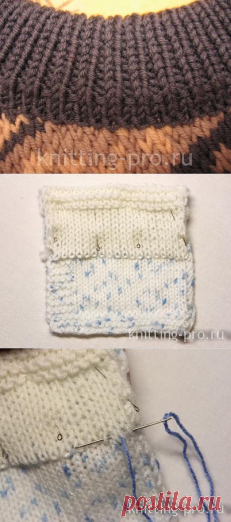 Выполнение кеттельного шва - knitting-pro.ru - От азов к мастерству