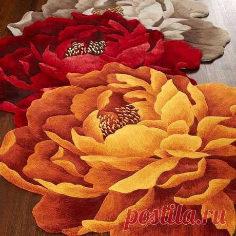 Скульптурные ковры-цветы: 30 удивительных моделей из двух интернет-магазинов.