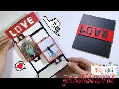 THIỆP POP UP MỞ 2 chiều dán ảnh cực lạ mắt - NGOC VANG Handmade