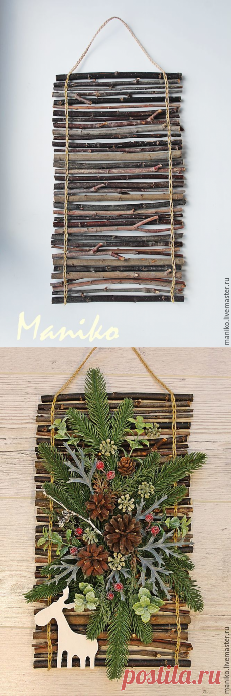 Делаем основу для панно из палочек - Ярмарка Мастеров - ручная работа, handmade