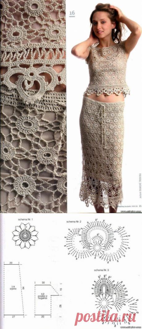 Irish crochet &: SKIRT + BLOUSE...... SKIRT + BLOUSE
