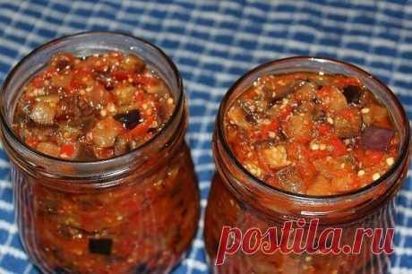 Как я делаю баклажаны с чесноком по-грузински. Острая и вкусная закуска на зиму | Вкусно и полезно | Яндекс Дзен