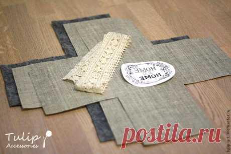Шьем текстильную корзинку в винтажном стиле – Ярмарка Мастеров