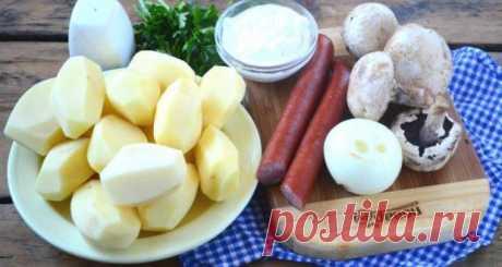 Охотничьи колбаски с картофелем в горшочках — пошаговый рецепт с фото на   Краше Всех