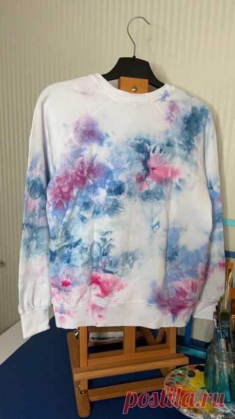 Меня захватывает стиль тай-дай в росписи одежды. | Настасья_art | Яндекс Дзен
