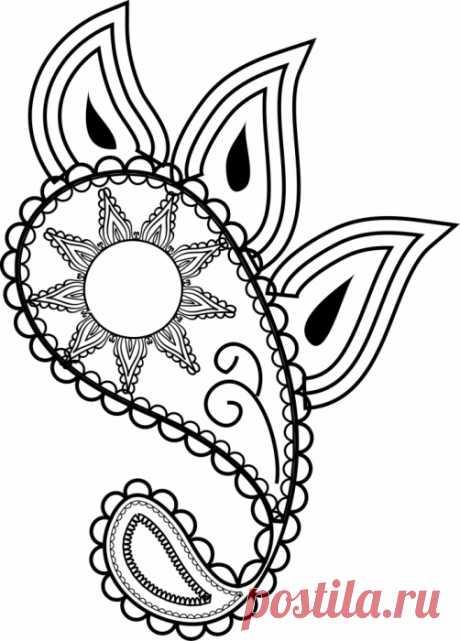 Простые эскизы для росписи | БАТИК и Я