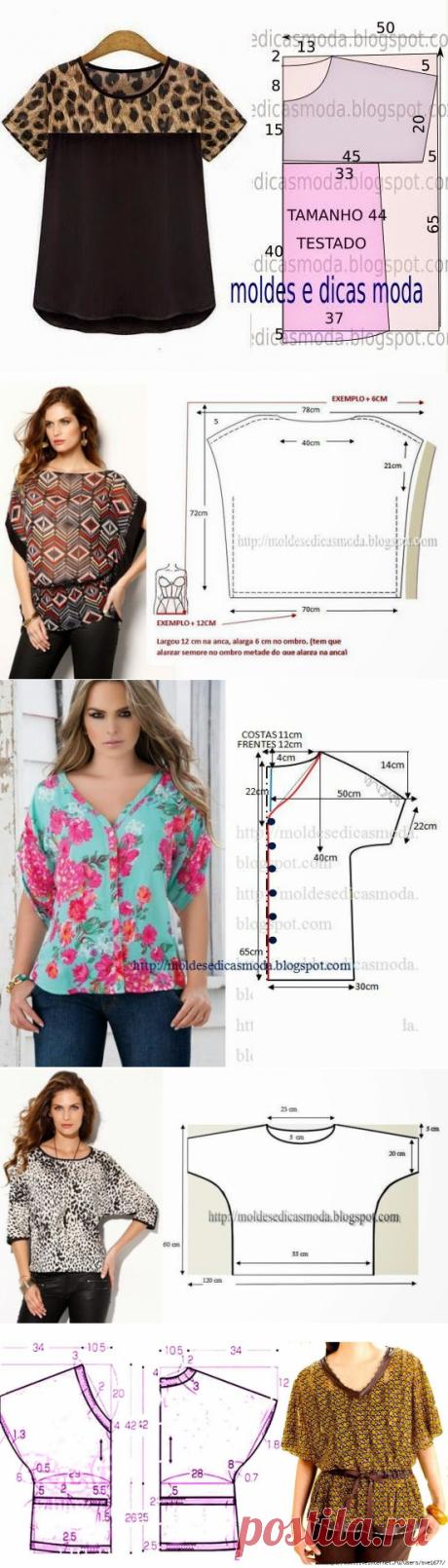 Блузка выкройки для начинающих для полных