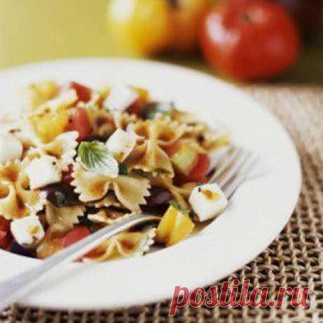 Сицилийская паста с запеченными помидорами и баклажанами рецепт