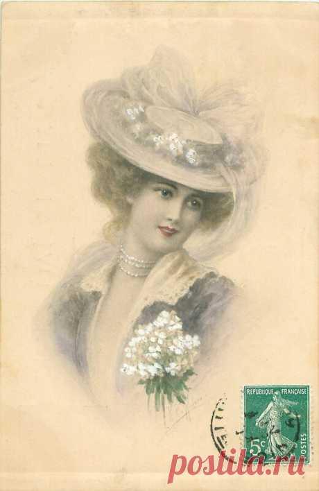 Красавицы на старинных открытках. Часть двенадцатая