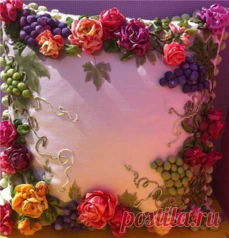 Роза и виноградные листья он Инны Берд. МК.