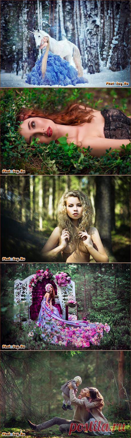 Идеи для фотосессии в лесу!