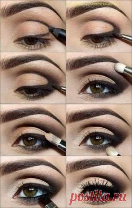 Пошаговые уроки макияжа. 📌Сохрани себе, чтобы не потерять!