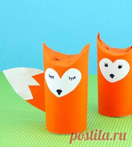 «Toilet Paper Roll Fox Craft - Easy Peasy and Fun . Поделки с» — карточка пользователя Александр Хохлов в Яндекс.Коллекциях