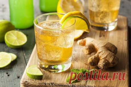 Домашний имбирный лимонад.