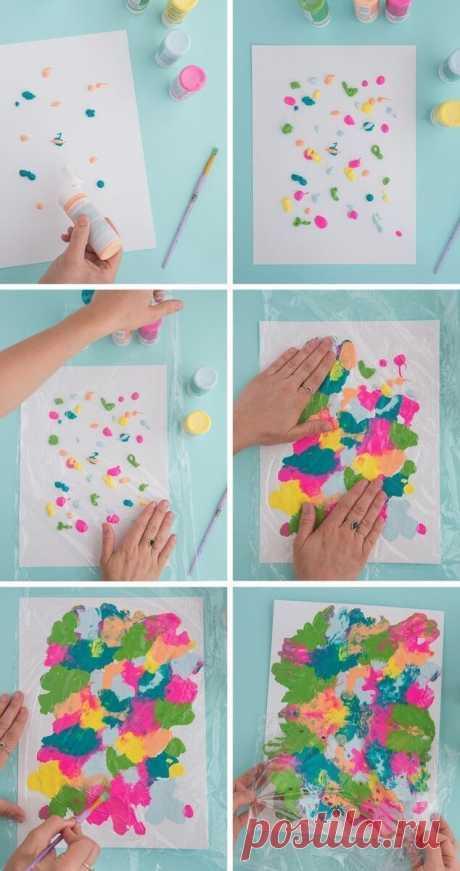 Самые необычные рисунки, которые дети создают БЕЗ Кисточки! | Анастасия Ефимова | Яндекс Дзен