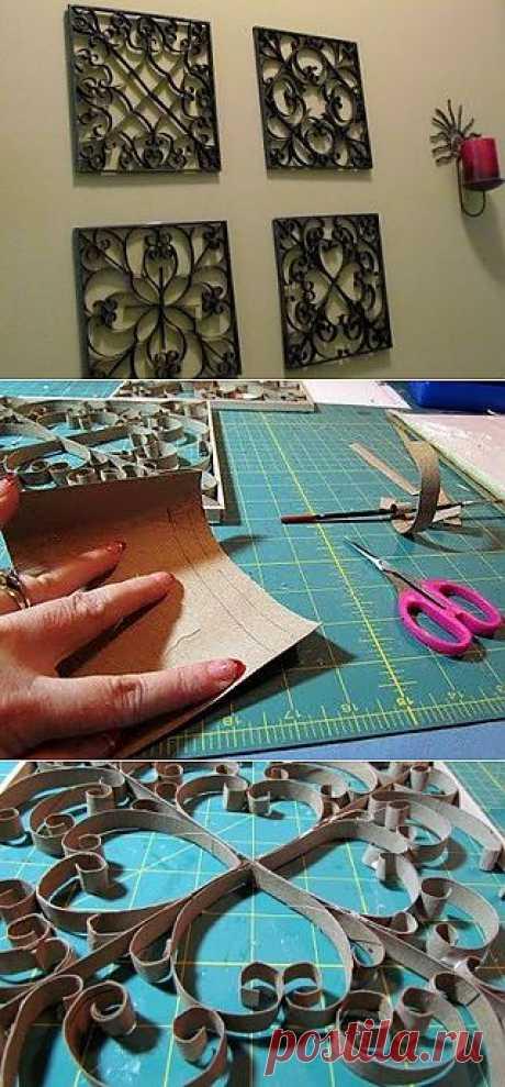 Фальш-ковка для декорирования стен из картона..