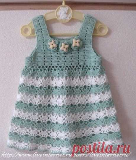 Beautiful Dress With soft Colors Baby Crochet Yarn store
