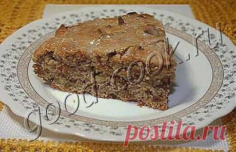 Хорошая кухня - постный пирог с орехами и сушеными яблоками. Кулинарная книга рецептов. Салаты, выпечка.