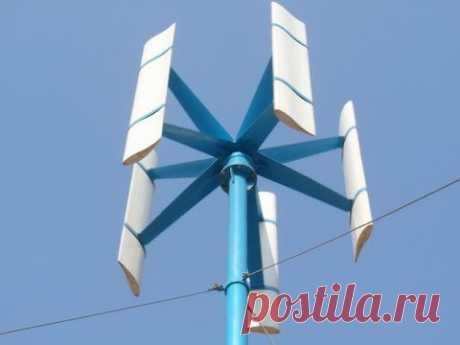 Какой ветряк лучше? Вертикальный ветряк переделка на горизонтальный 02 - YouTube