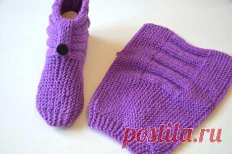 Симпатичные носочки (Вязание спицами) – Журнал Вдохновение Рукодельницы