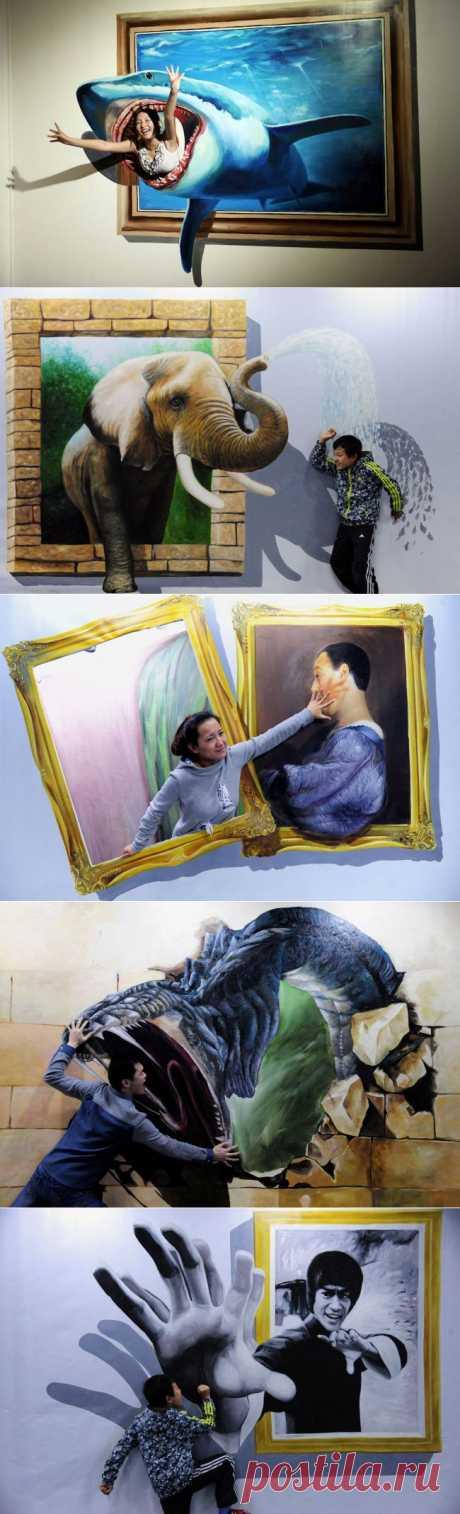 Выставка 3D-живописи | Приколисты в картинках