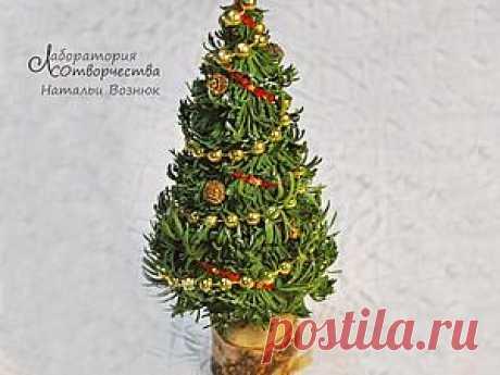 Мастер-класс: новогодняя ёлочка из фоамирана – Ярмарка Мастеров