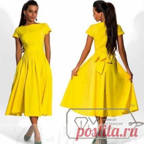 Летнее платье из бенгалина