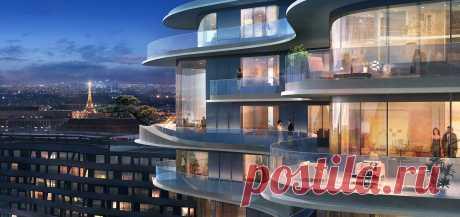 Элитный жилой дом с каскадными этажами в Париже (Интернет-журнал ETODAY)