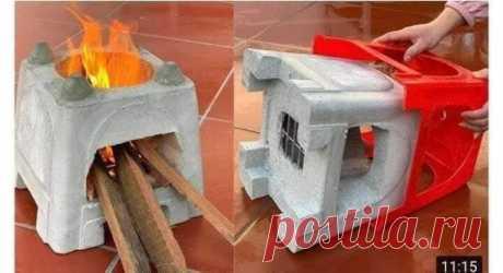 Идеи печек ручной работы из бетона и кирпича
