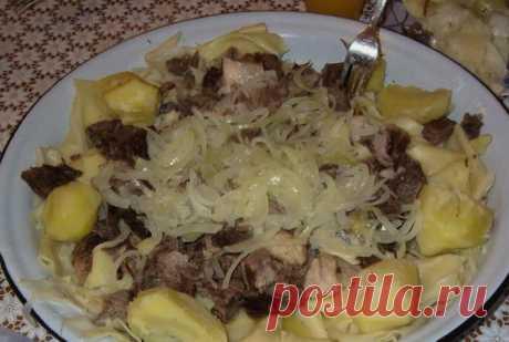 Бешбармак из говядины с картошкой - пошаговый рецепт в домашних условиях с фото