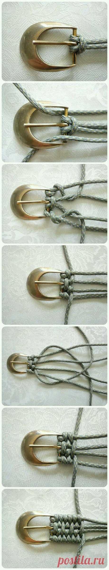 With 550 cord new work belt   Artesanatos&cia