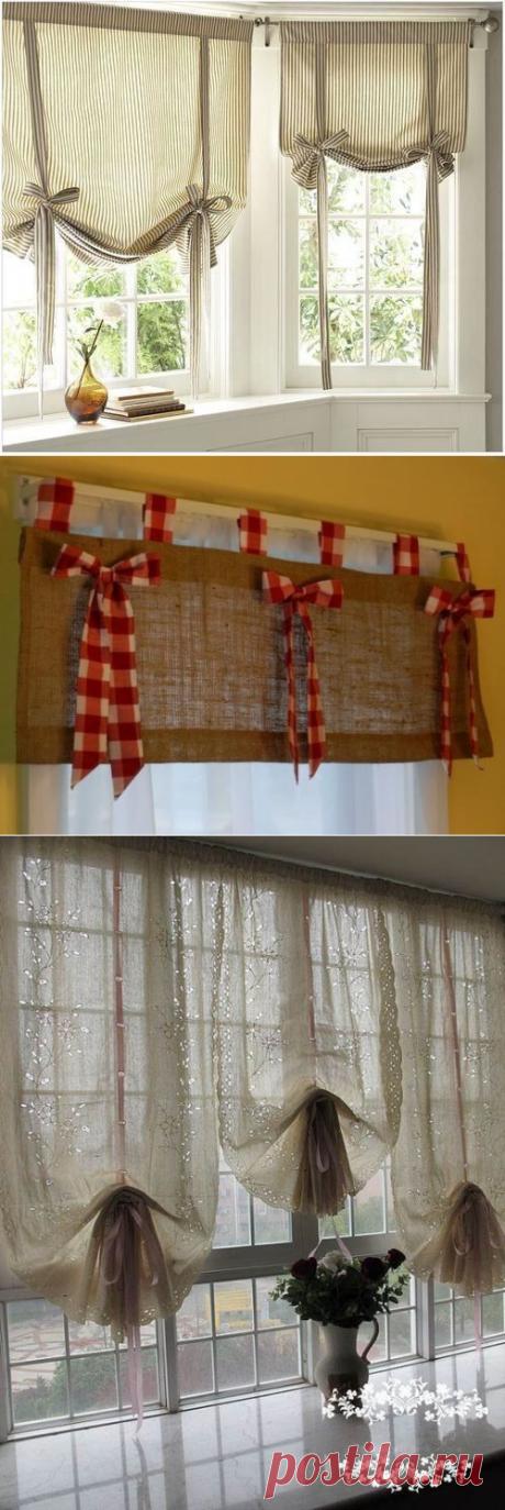 Короткие шторы: подборка оригинальных решений   Идеи декора