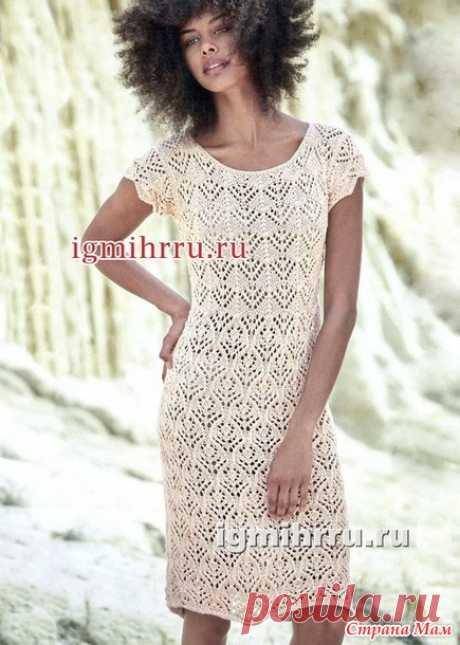 Ажурное летнее платье - Вязание спицами - Страна Мам
