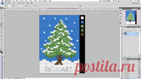 Делаем схему для вышивки из любой картинки, используя Photoshop – Ярмарка Мастеров