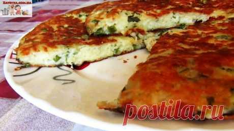 Сырная лепешка на сметане с зеленью (+ВИДЕО)