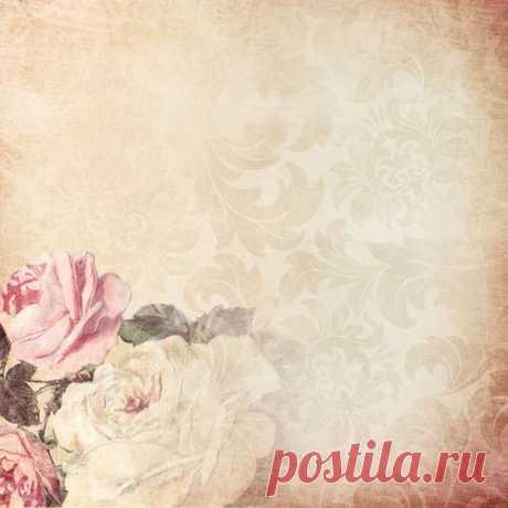 Цветочные фоны в винтажном стиле