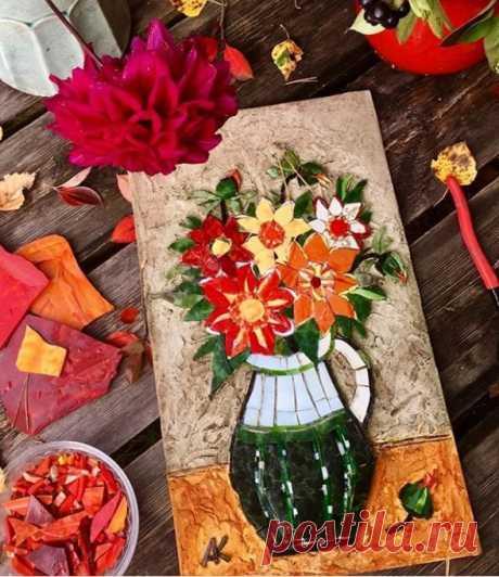 Мозаика из смальты «Осеннее настроение».