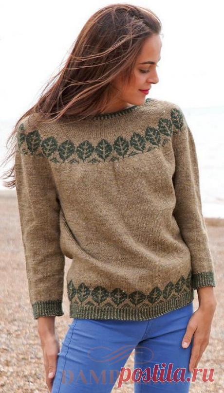Пуловер с круглой кокеткой «Trees» ᅠᅠᅠᅠᅠᅠᅠᅠᅠᅠᅠᅠᅠᅠᅠᅠᅠᅠ ᅠᅠᅠᅠᅠᅠᅠᅠᅠᅠᅠᅠᅠᅠᅠᅠᅠ ᅠᅠᅠᅠᅠᅠᅠᅠᅠᅠᅠᅠᅠᅠᅠᅠᅠᅠᅠᅠᅠᅠᅠᅠᅠᅠ  японские узоры спицами