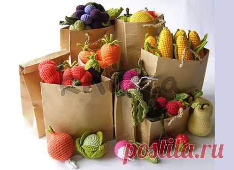 Вязаная еда от Непослушной Мамы