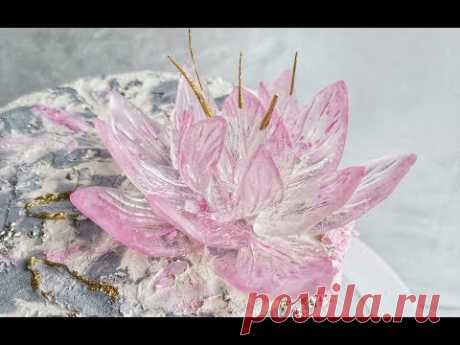 Цветок из изомальта без молдов/Isomalt flower without mold
