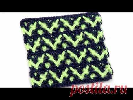 Красивый необычный узор из арочек   Beautiful unusual pattern