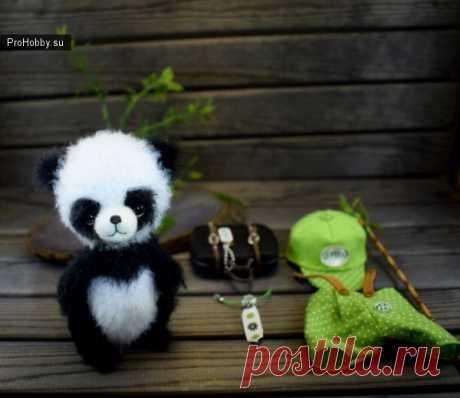 Малютка панда (Сплюшка) / Вязание игрушек / ProHobby.su | Вязание игрушек спицами и крючком для начинающих, мастер классы, схемы вязания