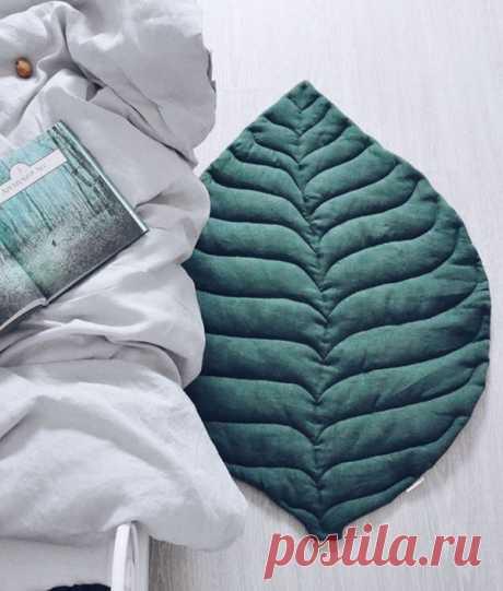 Простые идеи для дома: текстильные листья как пледы и ковры – Ярмарка Мастеров