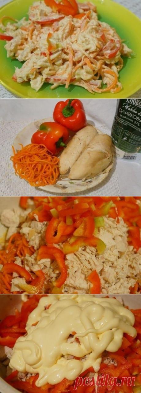 Как приготовить салат с курицей и морковью по-корейски - рецепт, ингридиенты и фотографии