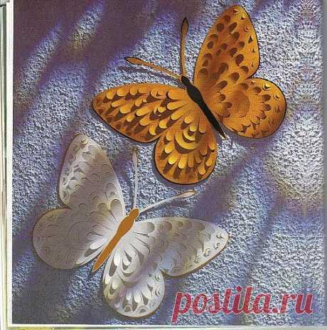 Изящные бумажные бабочки.
