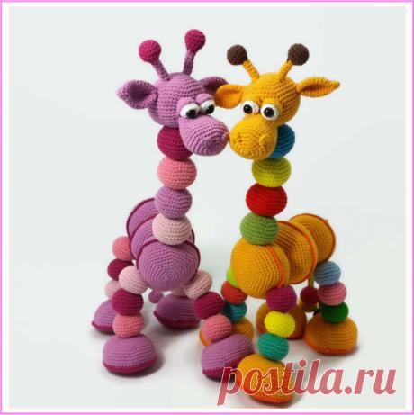 KUFER z artystycznym rękodziełem : Szydełkowa żyrafa - amigurumi tutorial