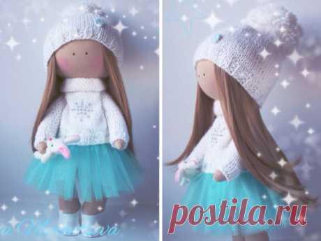 Handmade doll Fabric doll Tilda doll Textile by AnnKirillartPlace