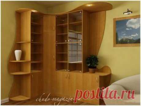 Угловой шкаф стеллаж в детскую с дверцами для книг: фото, дизайн, заказ, заме