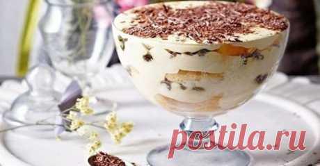 Десерт, который легко приготовить. Попробуйте, очень вкусно Очень вкусный десерт из обычных ингредиентов. Из такого количества продуктов у меня вышло три вот таких чашечки.