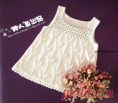 Платье спицами для девочки 2-3 лет. Связать летнее платье спицами девочке Платье-сарафан спицами для девочки 2-3 лет. Связать летнее платье спицами девочке